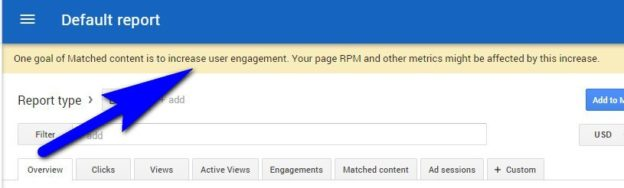 Google AdSense Matched Content Review -